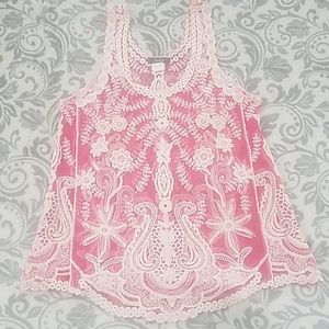 Acemi sheer lace tank top